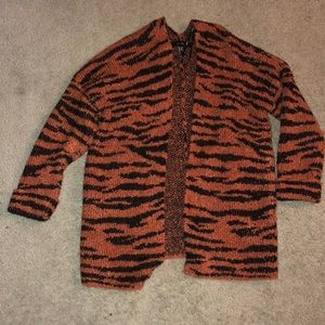 Tiger stripe oversized cardigan